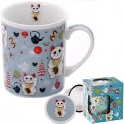 TEA CUP LUCKY CAT